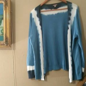 J. Jill ombre top blue white Large worn 2x